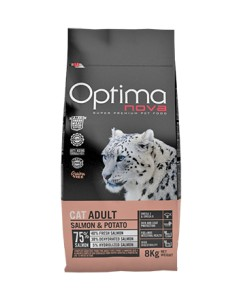 Optimanova Gatti Adult 2 kg con Salmone e Patate GRAIN FREE