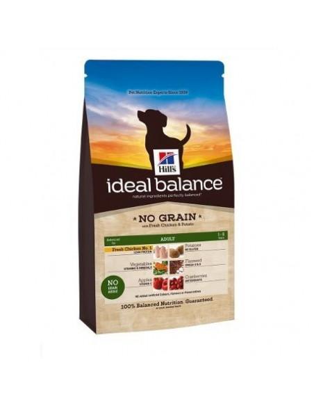 Hill's Ideal Balance Canine Adult No Grain - Pollo fresco e Patate - 2 Kg