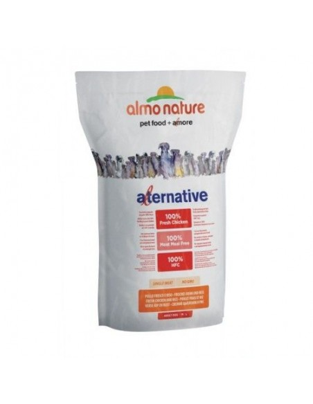 Almo Nature Dog - Alternative - Adult Dog M/L - Pollo Fresco e Riso - 3,75 Kg