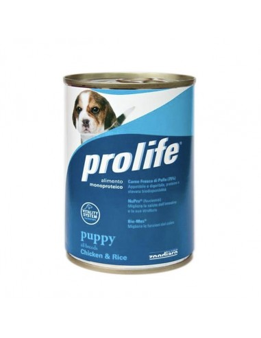 Prolife Wet Dog - Puppy - All Breeds - Chicken & Rice - 400 gr. - Barattolo