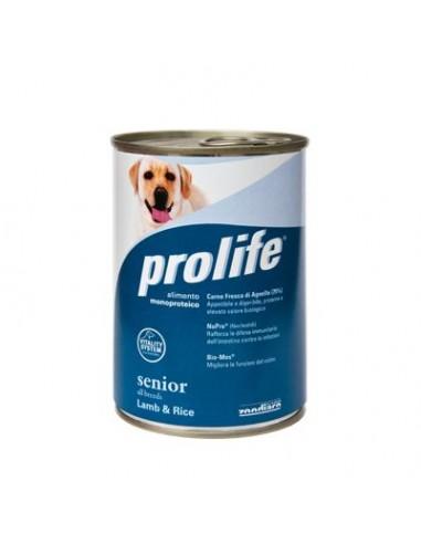 Prolife Wet Dog - Senior - All Breeds - Lamb & Rice - 400 gr. - Barattolo