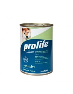 Prolife Wet Dog - Sensitive - All Breeds - Renna & Patate - 400 gr. - Barattolo