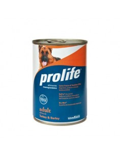 Prolife Wet Dog - Adult - All Breeds - Turkey & Barley - 400 gr. - Barattolo