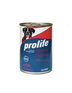 Prolife Wet Dog - Adult - All Breeds - Beef & Rice - 400 gr. - Barattolo