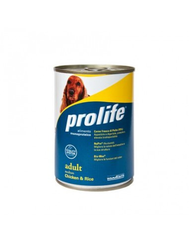 Prolife Wet Dog - Adult - Medium - Chicken & Rice - 400 gr. - Barattolo