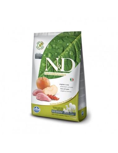 Farmina Dog - N&D Grain Free - Boar & Apple - Adult Medium - 12 Kg