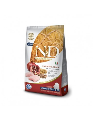 Farmina Dog - N&D Low Ancestral Grain - Pollo & Melograno - Puppy Maxi - 12 Kg