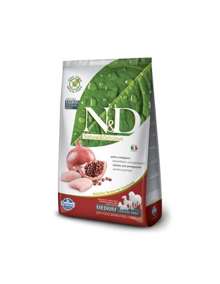 Farmina Dog - N&D Grain Free - Chicken & Pomegranate - Adult Medium - 12 Kg