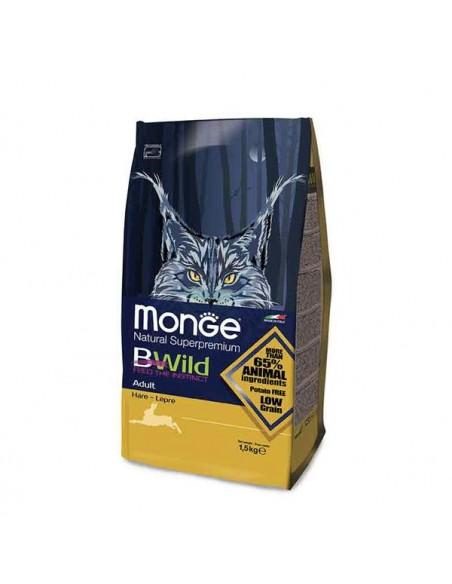 Monge Gatto - BWild - Adult con Lepre - 1,5 Kg