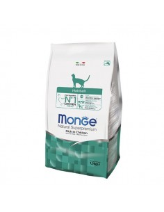 Monge Gatto - Natural Superpremium - Hairball - Ricco di Pollo - 1,5 Kg