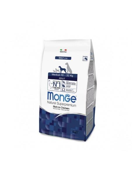 Monge Cane - Natural Superpremium - Adult - Medium - Daily Line - Ricco di Pollo - 3 Kg (clicca qui anche per 12 Kg)