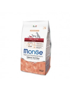Monge cane - Natural Superpremium - Adult Mini - Speciality Line - Salmone e Riso - 800 g