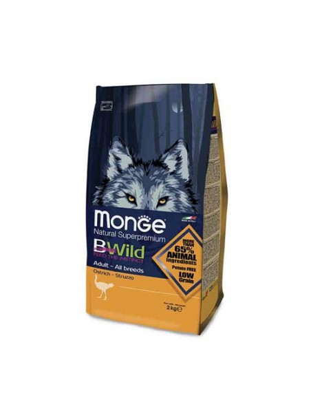 Monge cane - Bwild - Adult All Breeds - Struzzo - 7,5 Kg