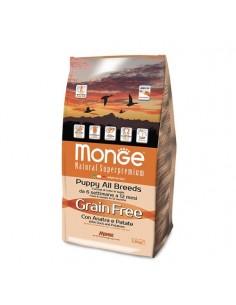 Monge Cane - Grain Free - Puppy All Breeds - con Anatra e Patate - 2,5 Kg