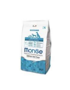 Monge cane - Natural Superpremium - All Breeds - Hypoallergenic- Speciality Line - Salmone e Tonno - 2,5 Kg
