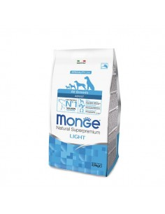 Monge cane - All Breeds Adult Light Salmone e Riso - 2,5 Kg