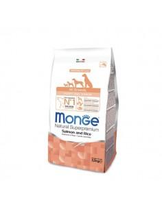 Monge cane - Natural Superpremium - Puppy & Junior - All Breeds - Speciality Line - Salmone e Riso - 12 Kg