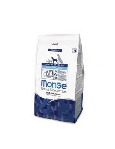 Monge cane - Medium Puppy & Junior Ricco di Pollo - 12 Kg