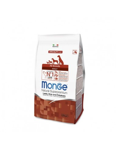 Monge Cane - Natural Superpremium - Adult All Breeds - Speciality Line - Agnello, Riso e Patate - 2,5 Kg