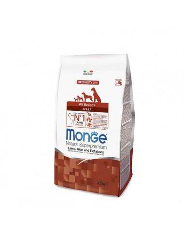 Monge Cane - Natural Superpremium - Adult All Breeds - Speciality Line - Agnello, Riso e Patate - 2,5 Kg