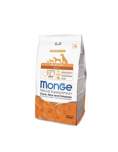Monge Cane - Natural Superpremium - Adult - All Breeds - Speciality Line - Anatra, Riso e Patate - 2,5 Kg