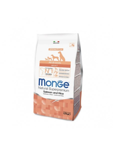 Monge Cane - All Breeds Adult Salmone e Riso - 12 Kg