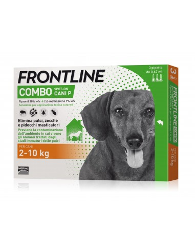 Frontline Combo Cane 3 Pipette  2-10 Kg