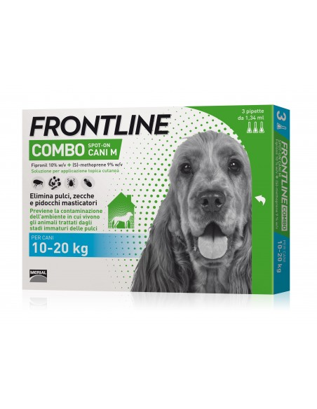 Frontline Combo Cane 3 Pipette 10-20 Kg