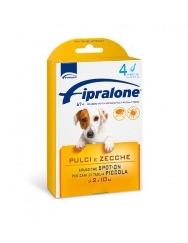 Formevet - Fipralone Spot On Cani PIccoli 2-10 Kg contro Pulci e Zecche 4 Pipette da 67 Mg