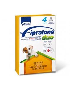 Formevet - Fipralone duo Spot On Cani PIccoli 2-10 Kg contro Pulci e Zecche 4 Pipette da 67 Mg