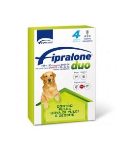 Formevet - Fipralone duo Spot On Cani taglia grande 20-40 Kg contro Pulci e Zecche 4 Pipette da 268 Mg