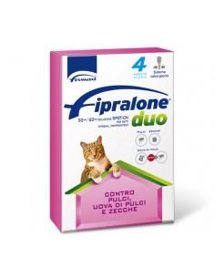 Formevet - Fipralone duo Spot On Gatti contro Pulci e Zecche 4 Pipette da 50 Mg
