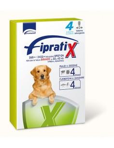 Formevet - Fipratix Spot On Cani taglia grande 20-40 Kg contro Pulci e Zecche Flebotomi e Zanzare 4 Pipette da 268 Mg
