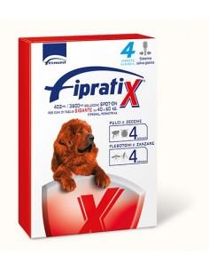 Formevet - Fipratix Spot On Cani taglia gigante 40-60 Kg contro Pulci e Zecche Flebotomi e Zanzare 4 Pipette da 402 Mg