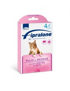 Formevet - Fipralone Spot On Gatti contro Pulci e Zecche 4 Pipette da 50 Mg