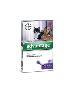 Bayer - Advantage 80 mg - 4 fiale Spot-on per Gatti e Conigli oltre 4 kg