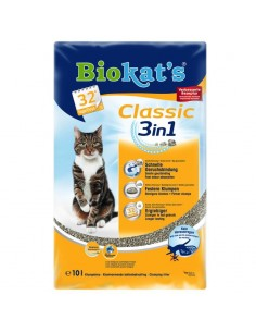 Biokat's Classic 3in1 - Lettiera per Gatti in Bentonite - 10 lt