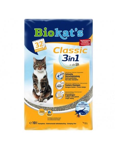 Biokat's Classic 3in1 - Lettiera per Gatti in Bentonite - 10 lt