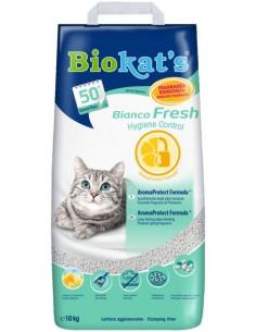 Biokat's Bianco Fresh - Lettiera per Gatti in Argilla Naturale - 10 Kg