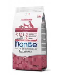 Monge cane - Natural Superpremium - Adult All Breeds - Monoprotein - Manzo con Riso - 12 Kg