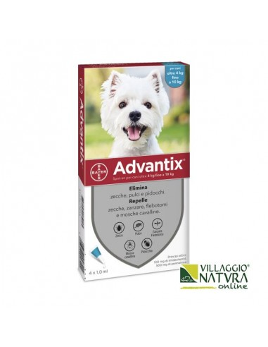 Advantix Spot-on per Cani da 4 a 10 Kg - 4 pipette x 1,0 ml