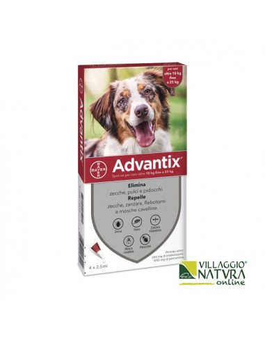 Advantix Spot-on per Cani da 10 a 25 Kg - 4 pipette x 2,5 ml