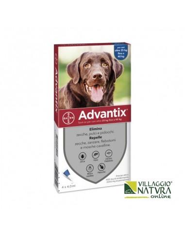 Advantix Spot-on per Cani da 25 a 40 Kg - 4 pipette x 4,0 ml