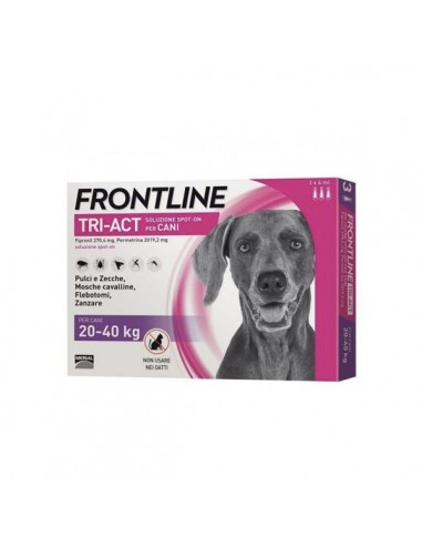 Frontline Tri-act Cani 20-40 Kg 3 pipette