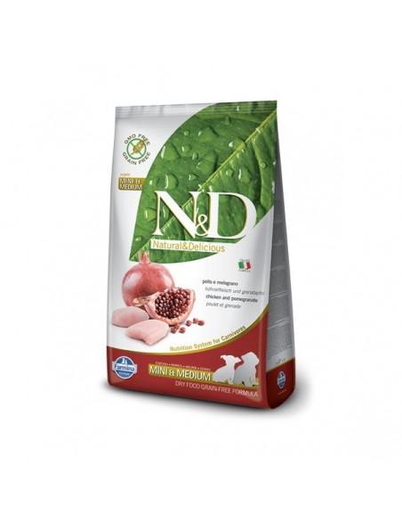 Farmina Dog - N&D Grain Free -  Chicken & Pomegranate - Puppy Mini & Medium - 12 Kg