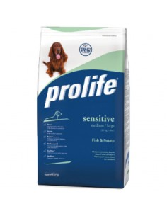 Prolife Dog Grain free Sensitive Medium Large fish & potato (pesce e patate) 12 Kg