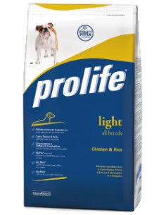 Prolife Light all breeds Chicken & Rice (pollo riso) 12 Kg