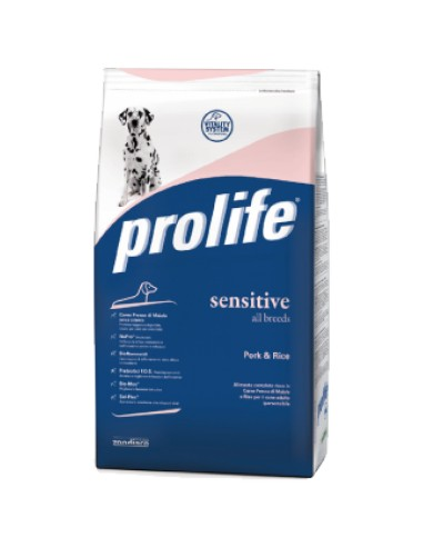 Prolife Sensitive Pork & Rice all breeds 12 Kg