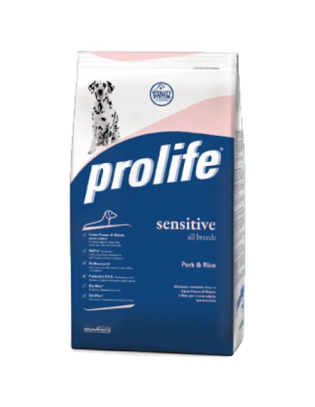 Prolife Sensitive Pork & Rice (maiale riso) all breeds 12 Kg