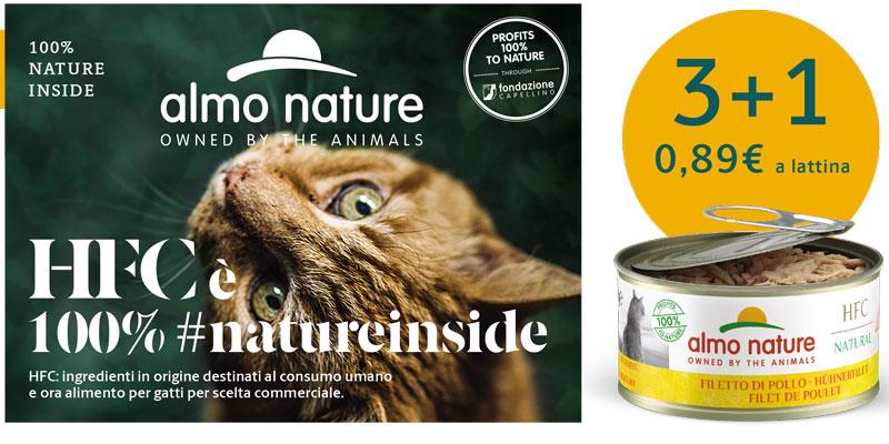 Cibo per gatti umido Almo Nature in promozione